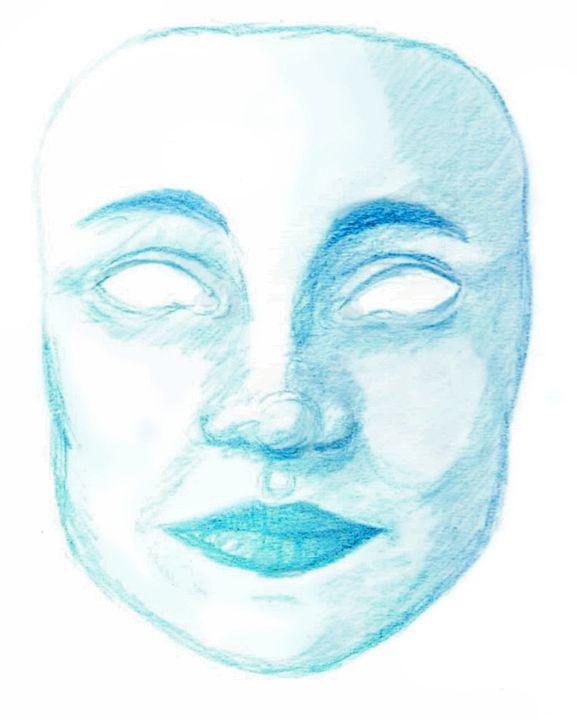 Blue Mask - Dorema's Doodles