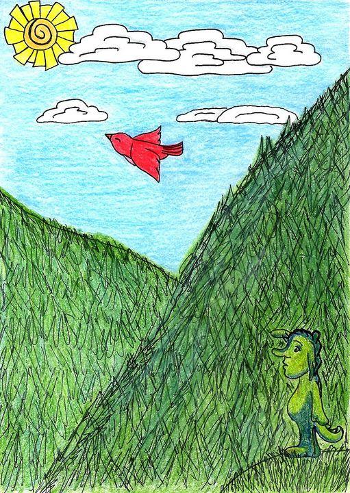 A Birdseye View - Dorema's Doodles