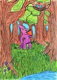 Purple Coffee Original Drawing