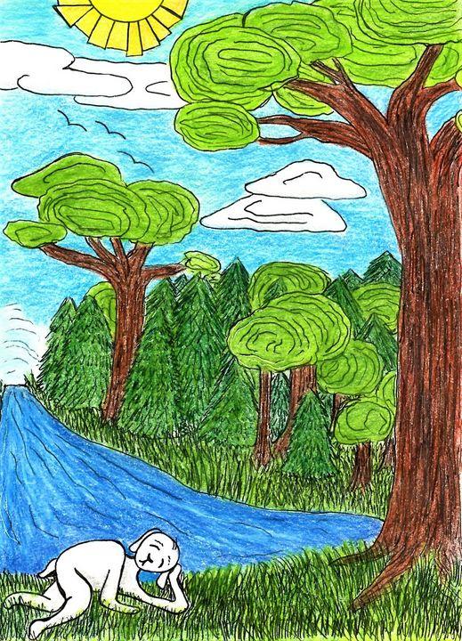 Sleepy Lamb - Dorema's Doodles