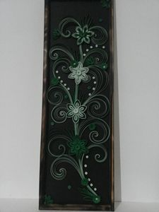 quilling green flowers