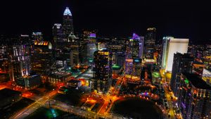 uptown Charlotte lights
