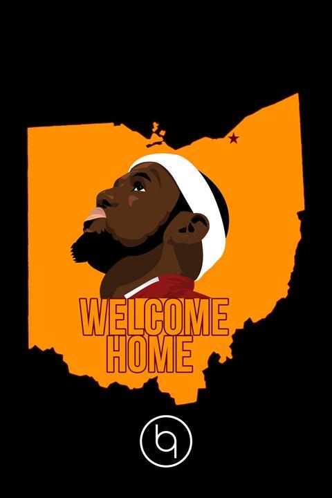 Welcome Home LeBron Black - Brad Greathouse Design