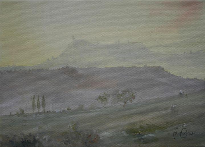 Toscan dawn 1 - Van Orton Art