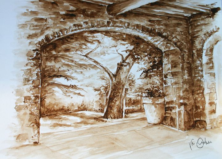 Toscan terrace - Van Orton Art