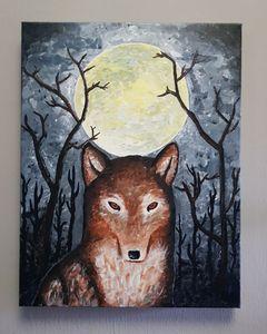 Wolf by moonlight - MVAsketches