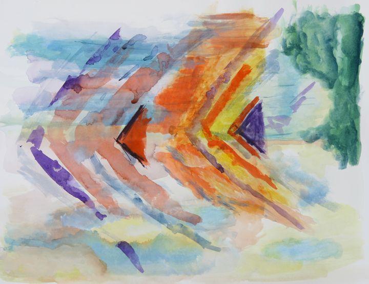 Abstract 042 - Kesslerwatercolors