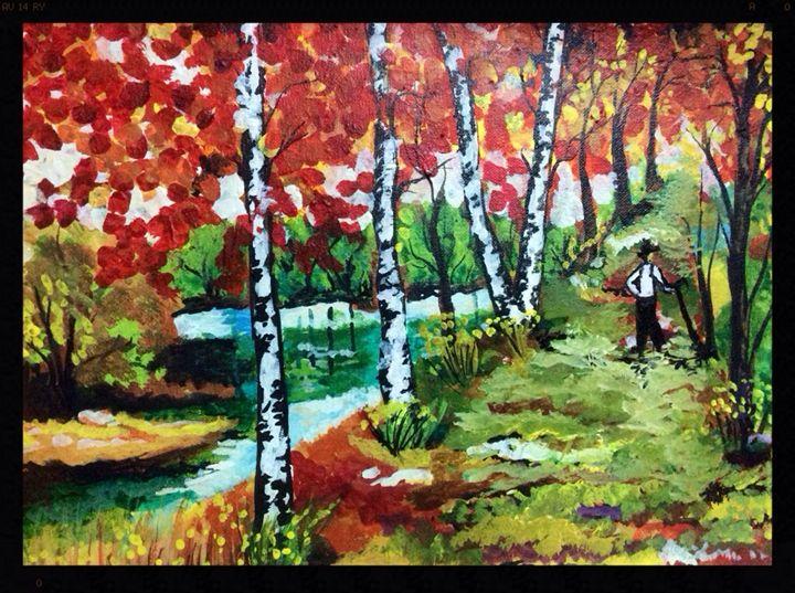 Birch beauty - Mehz paintings