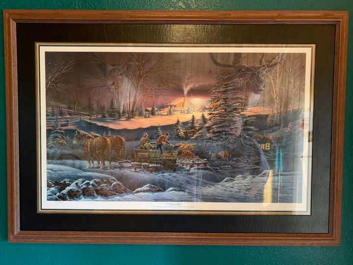 A Helping Hand - 3 Signed Terry Redlin prints, canvas and paper