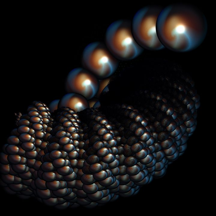 CLUSTER OF PEARLS FRACTAL - ABSTRACTLY THINKING