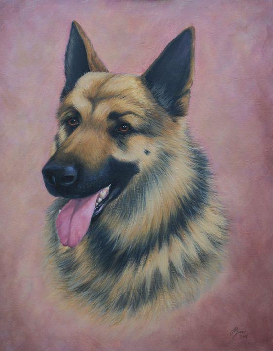 German Shepherd Head - Jane Indigo