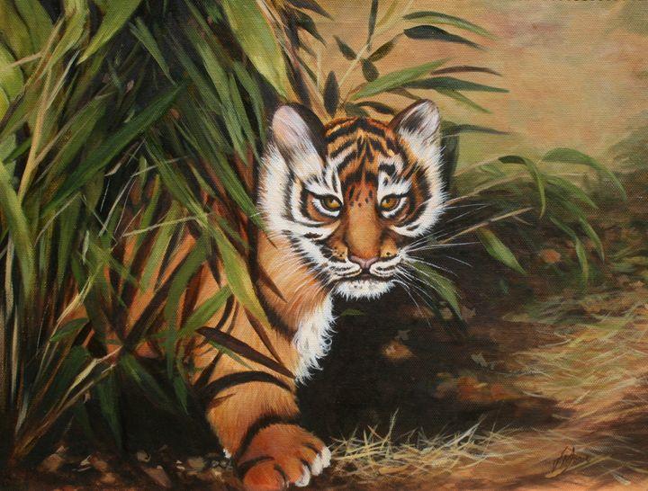 "Suma Baby 18"" x 22"" Oil on Canvas - Jane Indigo"