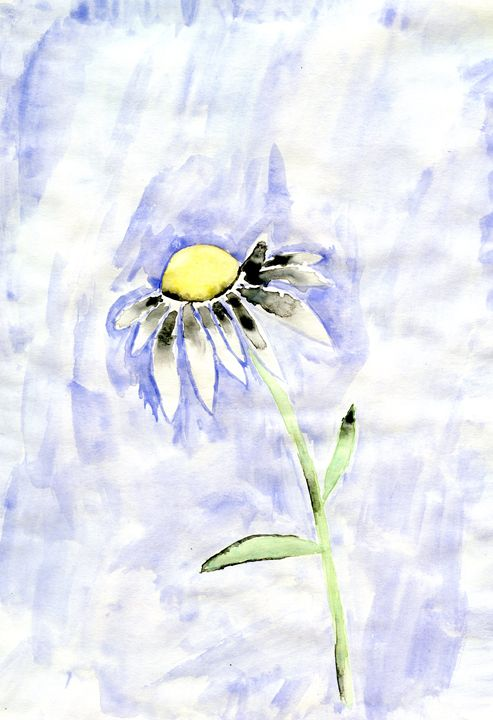 Watercolor Daisy - Corrin Broussard