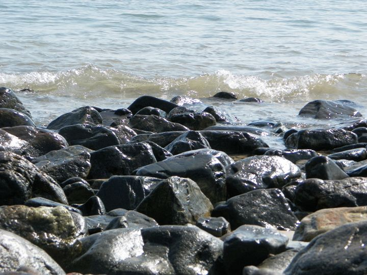Rocks and Waves - Corrin Broussard