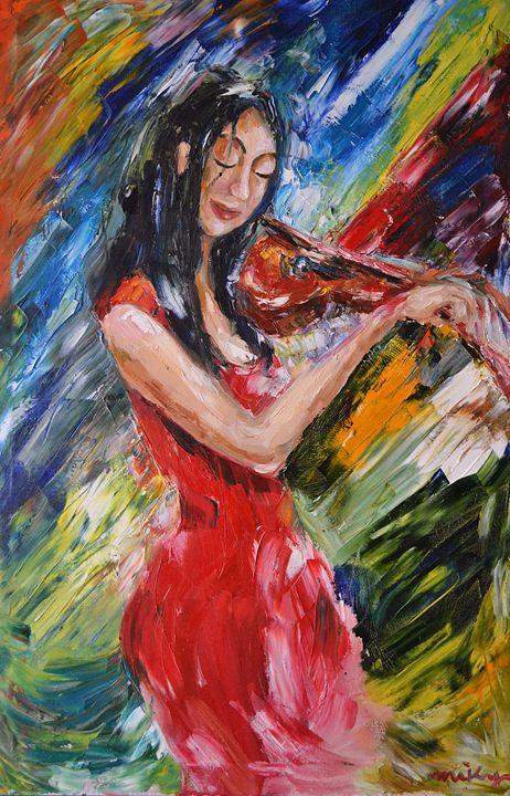 Girl with Violin - Artmiki