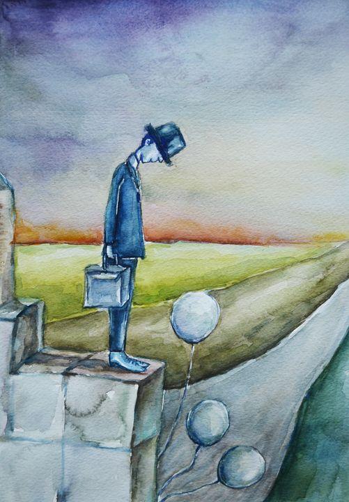 """Vertigo, 12x9"""" Watercolor - Artmiki"""