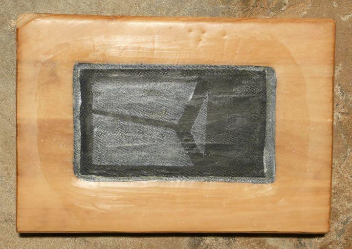 Print framed in wax on oak - Pierre van Kaam - Art in motion