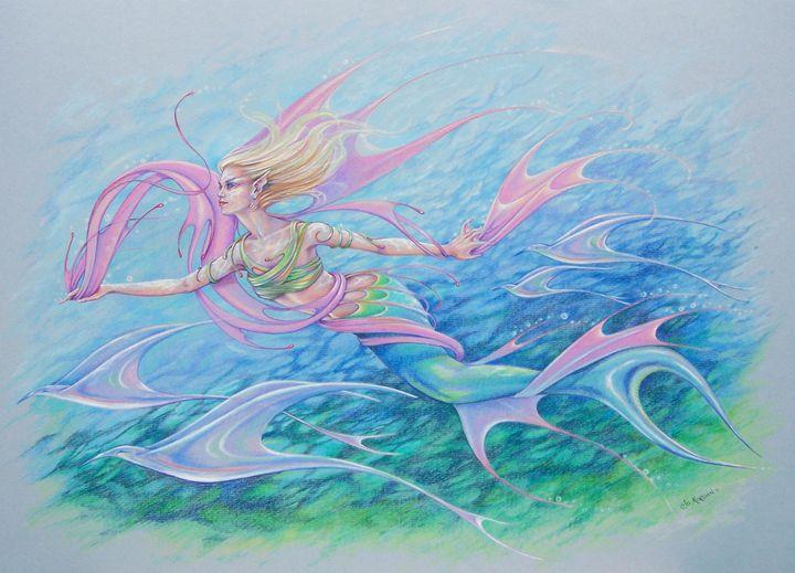 Naiad's Flight - Jo Morgan Art