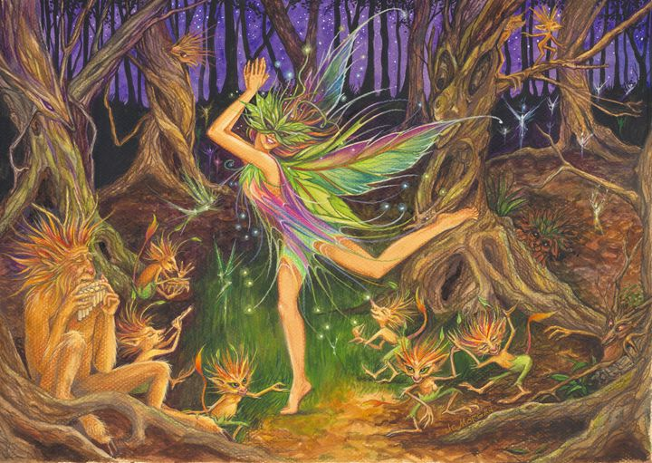 Dancing on the Knoll - Jo Morgan Art