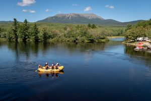 Mount Katahdin from Abol Bridge