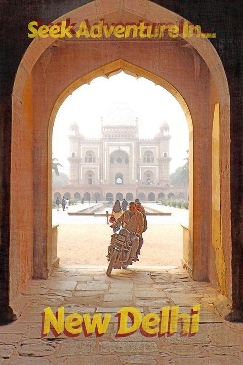 Adventure in New Delhi - WizardTim Travel Posters