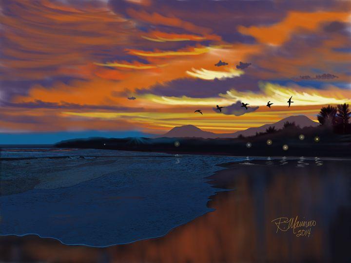 El Sunzal Sunset - Ruben Marinero