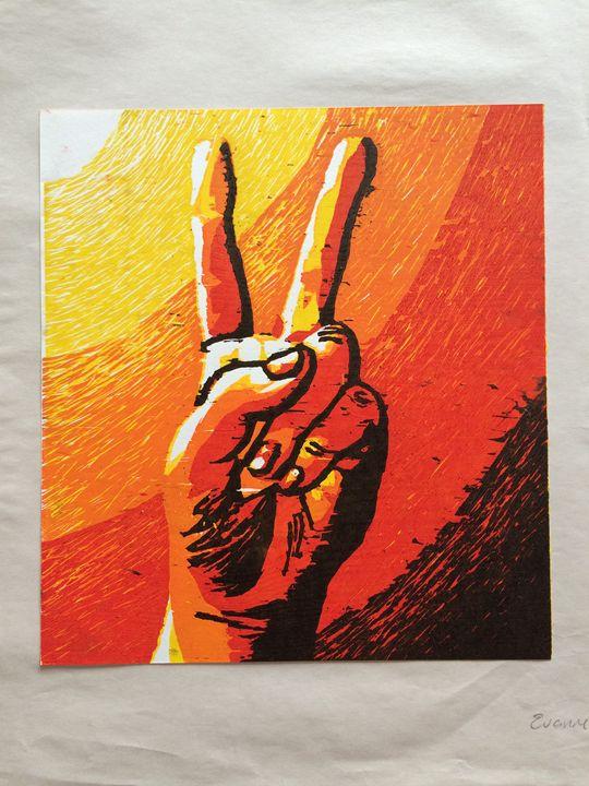 Peace Sign 4/5 - Evanne Deatherage