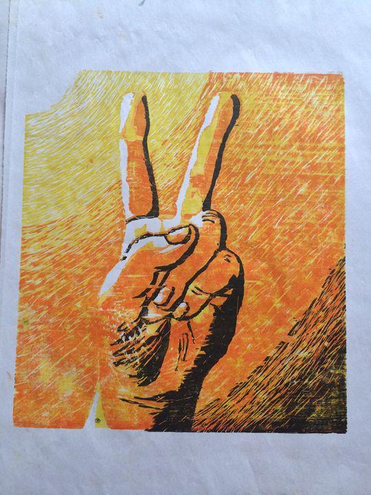 Newsprint Peace - Evanne Deatherage