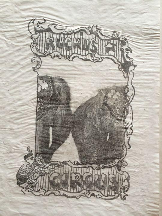 Vintage Insp Circus Elephat Poster - Evanne Deatherage