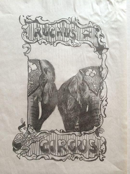 Vintage Insp Circus Elephant Poster - Evanne Deatherage