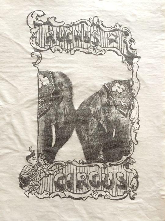 Vintage Insp Cirucs Elephant Poster - Evanne Deatherage