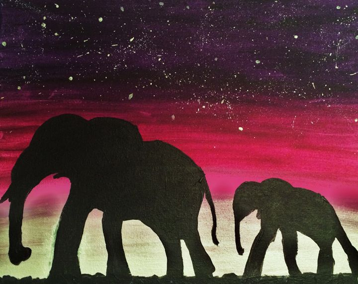 Elephant Silhouette - Evanne Deatherage