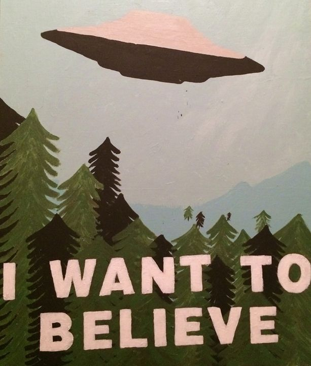 I Want To Believe Poster - Evanne Deatherage