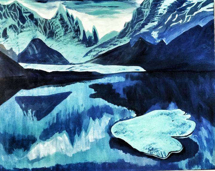 Arctic Blue Mountains - Glow Art Shop