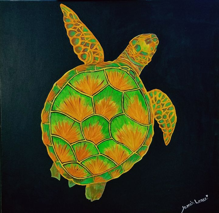 Glow in the Dark Sea Turtle - Glow Art Shop