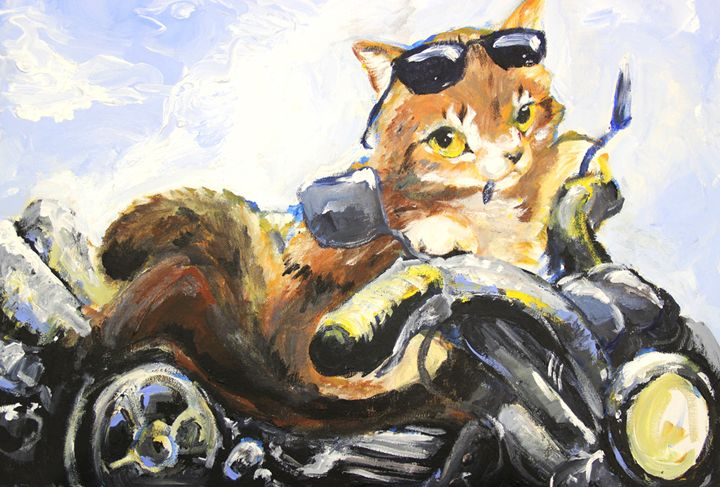 Biker Cat - Ebyrley