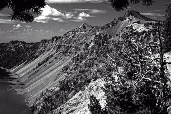 Crater Lake in Black & White - Linda's Fun Shots