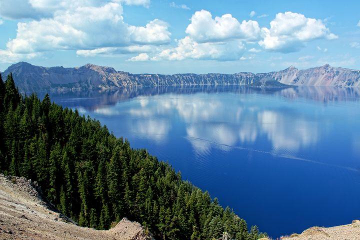 Crater Lake Reflections - Linda's Fun Shots