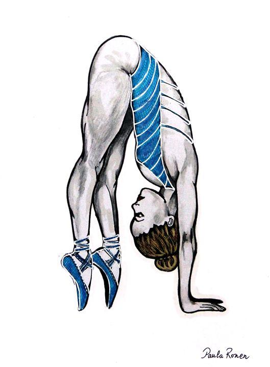 Blue ballerina - Paula_Fridman