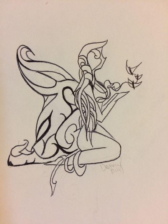 Fairy with butterflies - Destiny M.H.