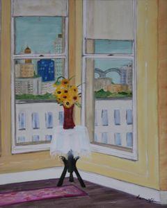 Room with View of the Memphis Bridge - Blanc Canvas Studios