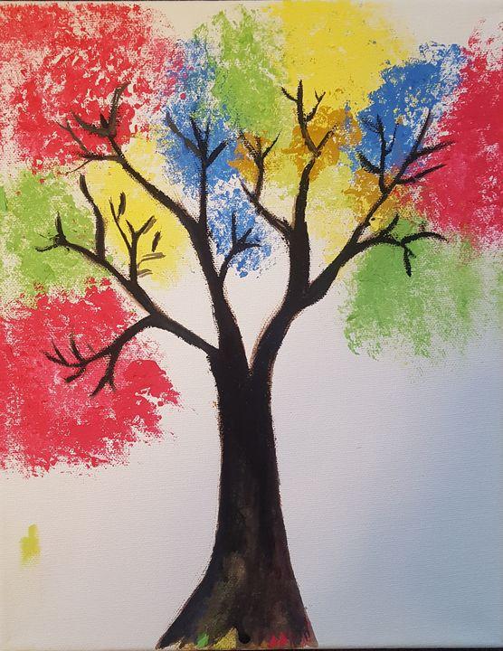 Colorful Tree - Shivam's Gallery
