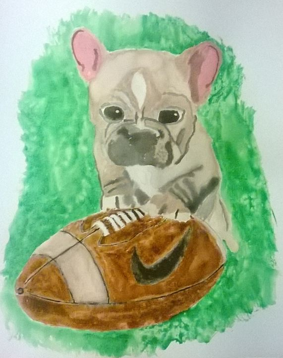 Football Puppy - Art By Callie