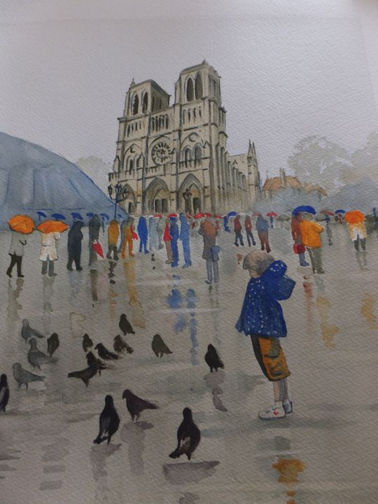 Notre Dame de Paris in the Rain - David Harmer
