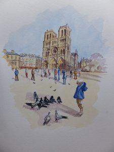 Notre Dame de Paris in Sunshine