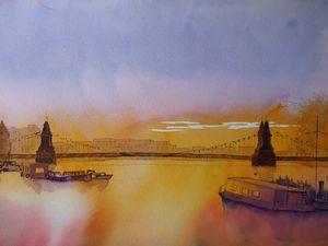 Hammersmith Bridge at Sunset