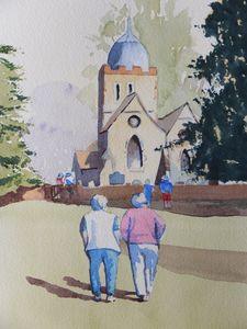 Old Albury Church in Surrey