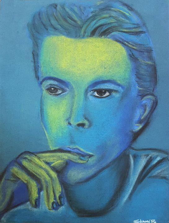 David Bowie-Glowing Essence - Shawn Brandon Art