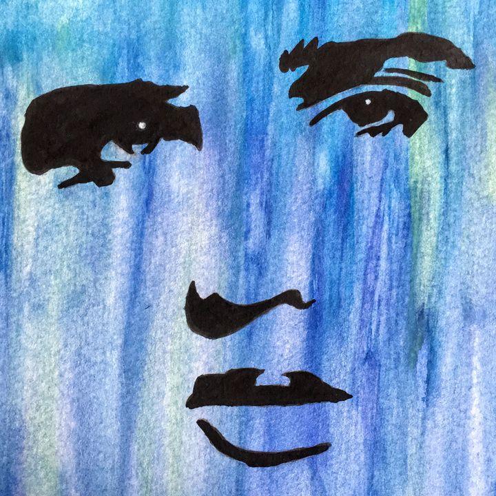 Elvis In Blue - Shawn Brandon Art