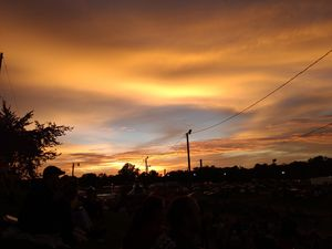 After rain sun set